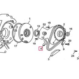 Protector cadena arranque eléctrico Pitbike motor 150-02E YX