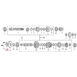 Pletina cierre piñón de ataque Pitbike Zongshen 155Z
