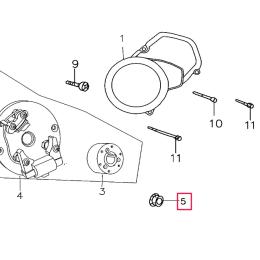 Tuerca cigüeñal/encendido Pitbike motor 150-3 150-5 YX