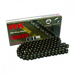 Cadena RK 530 GXW negra (BL) 118 eslabones