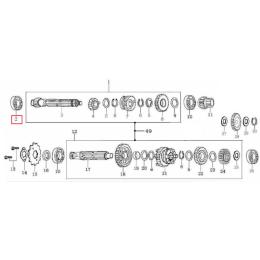 Rodamiento 6001 eje primario de cambio Pitbike Zongshen 155Z