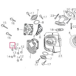 Tuerca tapa culata Pitbike motor 150-3/E 150-5 YX