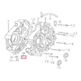 Casquillo centrador cárter motor Pitbike motor 150-3/E 150-5 YX