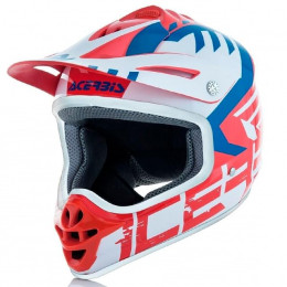 Casco cross Acerbis Impact Junior 3.0 rojo azul
