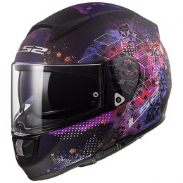 Casco Integral FF397 Vector FT2 Cosmos - Negro Rosa mate