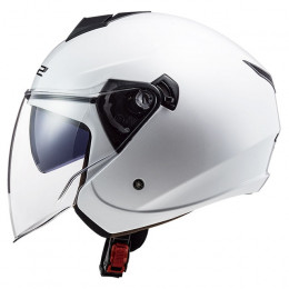 Casco Jet LS2 OF573 Twister II Single Mono Blanco
