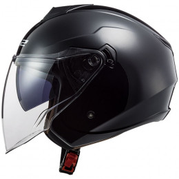 Casco Jet LS2 OF573 Twister II Single Mono Negro
