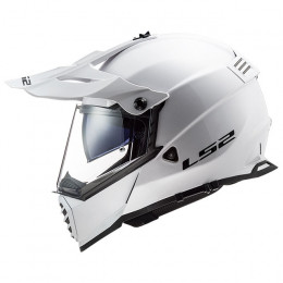 Casco Cross LS2 MX436 Pioneer EVO Blanco
