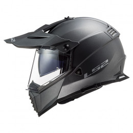 Casco Cross LS2 MX436 Pioneer EVO Titanio Mate