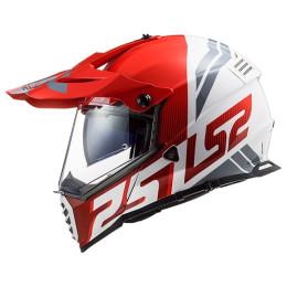 Casco Cross LS2 MX436 Pioneer EVO Evolve Rojo Blanco
