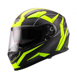 Casco integral Unik CI-01 Flash Pinlock Negro/amarillo flúor mate