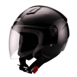 Casco Jet Unik CJ-16 Negro Brillo