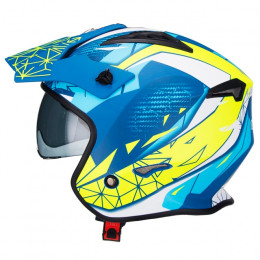 Casco trial Unik CT-07 Artic Azul/Blanco/Amarillo
