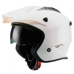 Casco trial Unik CT-07 con gafas Blanco