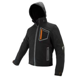 Chaqueta Invierno con protecciones ON BOARD Softshell Negra