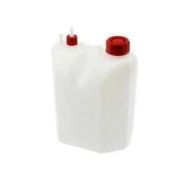 Depósito gasolina 3L de plástico, incl. Tubito, con soporte por tornillos, 17x25x13cm