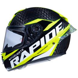 Casco MT Helmets FF104PRO Rapide Pro Carbon C3 Amarillo Fluor Brillo