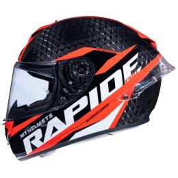 Casco MT Helmets FF104PRO Rapide Pro Carbon C5 Rojo Brillo