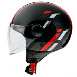 Casco MT Helmets OF501 Street Scope D5 Rojo Brillo