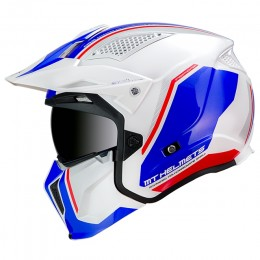 Casco MT Helmets TR902XSV Streetfighter SV Twin B7 Azul Perla Brillo