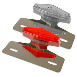 Portamatrículas universal con piloto trasero TNT Cross-LED's