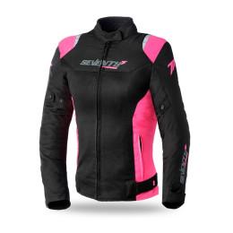 Chaqueta Seventy 70 SD-JR50 Verano Racing Mujer Negra/Rosa