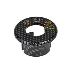 Tapa cerradura de contacto MBK Booster / Yamaha  BW's Vparts - Carbono