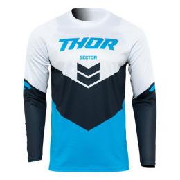 Camiseta Off-Road Infantil Thor Sector Chev Azul