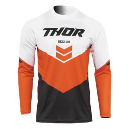 Camiseta Off-Road Infantil Thor Sector Chev Gris/Naranja