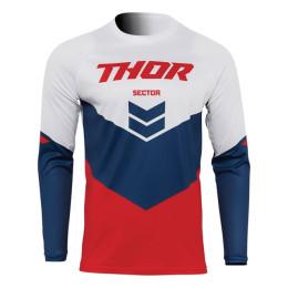 Camiseta Off-Road Infantil Thor Sector Chev Rojo/Azul