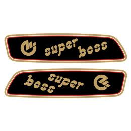Kit pegatinas SUPER BOSS Negro