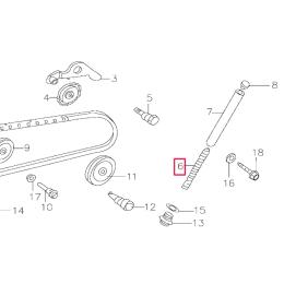Muelle tensor cadena distribución Pitbike motor 150-3/E 150-5 YX