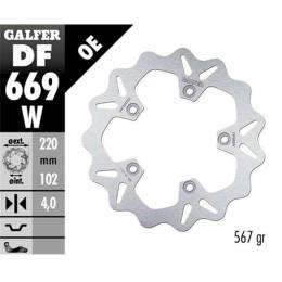 Disco de Freno trasero Aprilia Rs Wave 220x4mm fijo Galfer