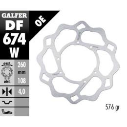 Disco de freno delantero Wave Beta ART / Motorhispania RYZ / Yamaha DT Galfer