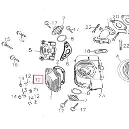 Arandela tapa culata tipo 1 Pitbike motor 150-3/E 150-5 YX
