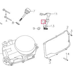 Muelle leva de embrague Pitbike motor 150-3 150-5 YX