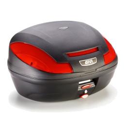 Baúl Monolock® E470 Simply II Catadrióticos Rojo Sin Sobretapa 47 lts Givi