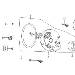 Junta tórica tornillos pletina encendido Pitbike motor 150-3/E 150-5 YX