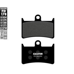 Pastillas de freno Galfer (FD178G1054), orgán. Negra, delant. YAMAHA T MAX 500 4T LC 2008 y 2012