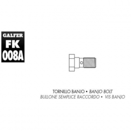 Tornillo banjo M10x1.00 Galfer