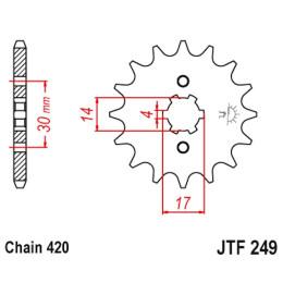 Piñon de Acero 13 Dientes JTF249 JT Sprockets