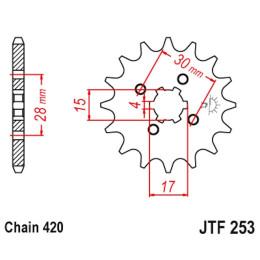 Piñon de Acero 12 Dientes JTF253 JT Sprockets
