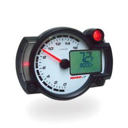 KOSO RX2NR+, 0-16.000 rpm,  RPM / TEMP con aviso
