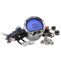 Cuentarrevoluciones KOSO DL-02R KOSO, redondo d=55mm, LCD (barras en el sentido del reloj), 0-20.000rpm, iluminado azul