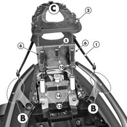 Soporte Baúl Yamaha T-Max 500 08-11 y T-Max 530 12-16 para MONOLOCK® Kappa