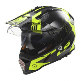 Casco LS2 Cross Pioneer MX436 Trigger Black Hi-Vis Yellow