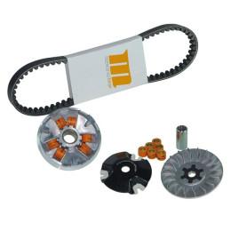 Variador Motoforce Racing Kit V2, incluye correa, polea variador, rodillos 5,5g / 6,0g, 15x12mm, carter Minarelli largo