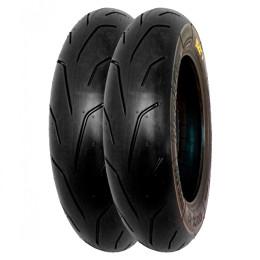 Juego de neumáticos 3.50-10 Semi-Slick Blackfire PMT