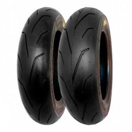 Juego de neumáticos 100/90-12 + 120/80-12 Semi-Slick Blackfire PMT