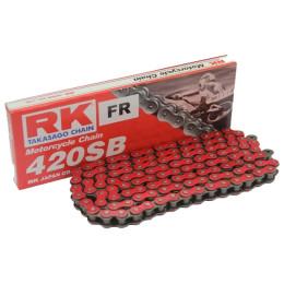 Cadena RK 420SB con 140 eslabones Rojo